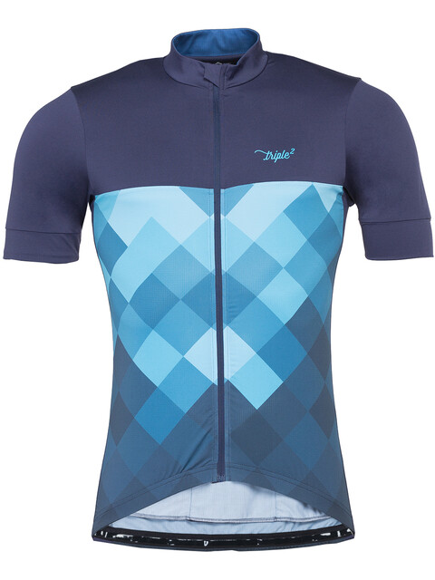 Triple2 Velozip Performance Kortärmad cykeltröja Herr Jersey Men blå/Petrol
